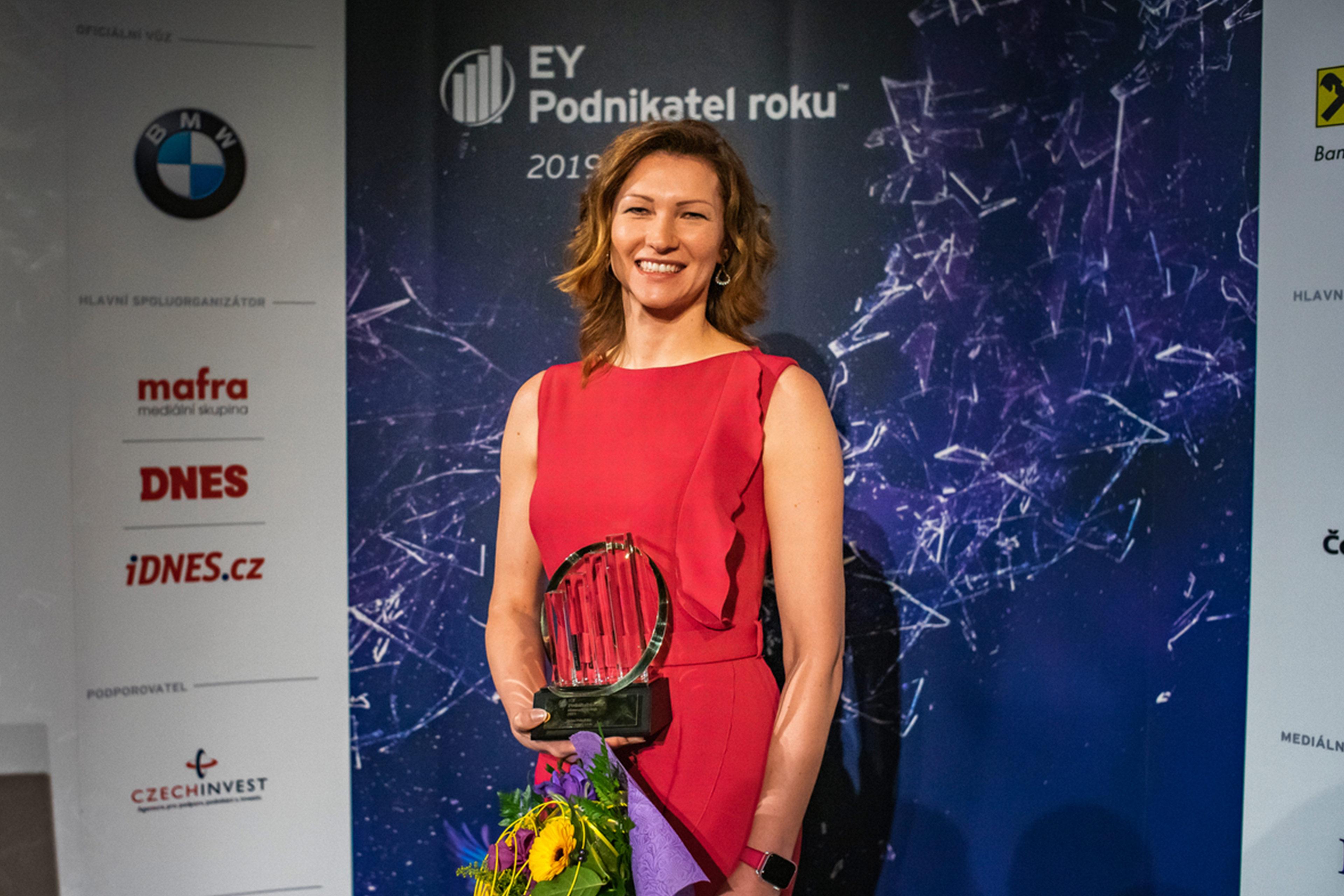 Petra Pohořská, spolumajitelka společnosti ABO valve, s.r.o., držitelka titulu EY Podnikatel roku 2019 Olomouckého kraje