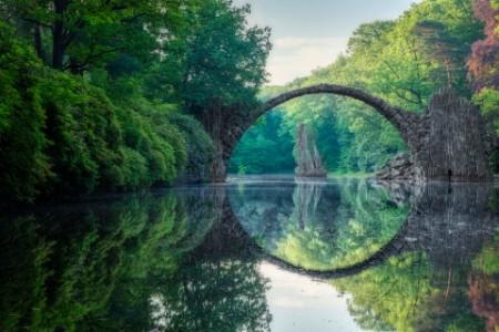 Arch bridge in Kromlau