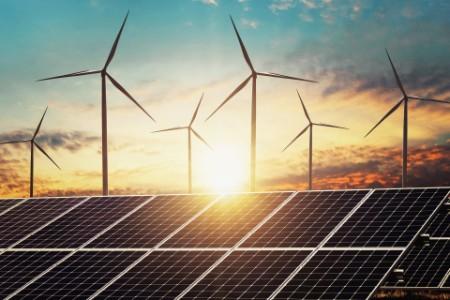Clean energy power concept solar panel