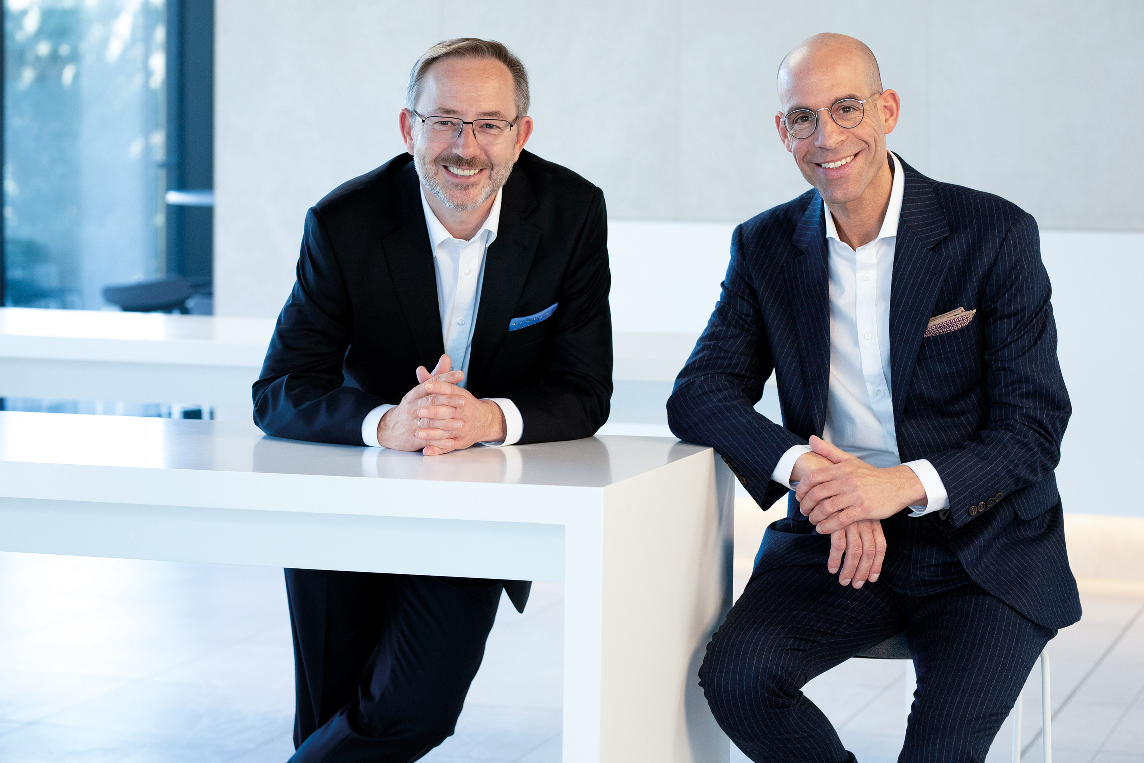 Axel Kühner (Vorstandsvorsitzender)und Hannes Moser (Finanzvorstand)