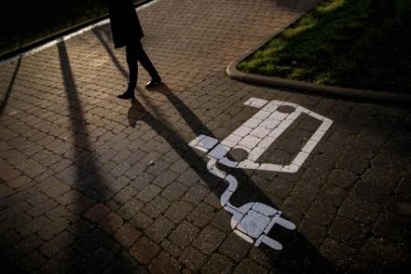 Parkplatz für eine Elekroauto-Ladestation