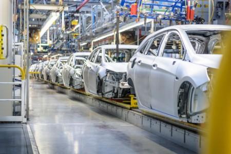 Autos in der Produktion