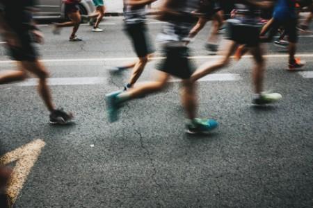 Marathonlauf Wettlauf um die Zeit
