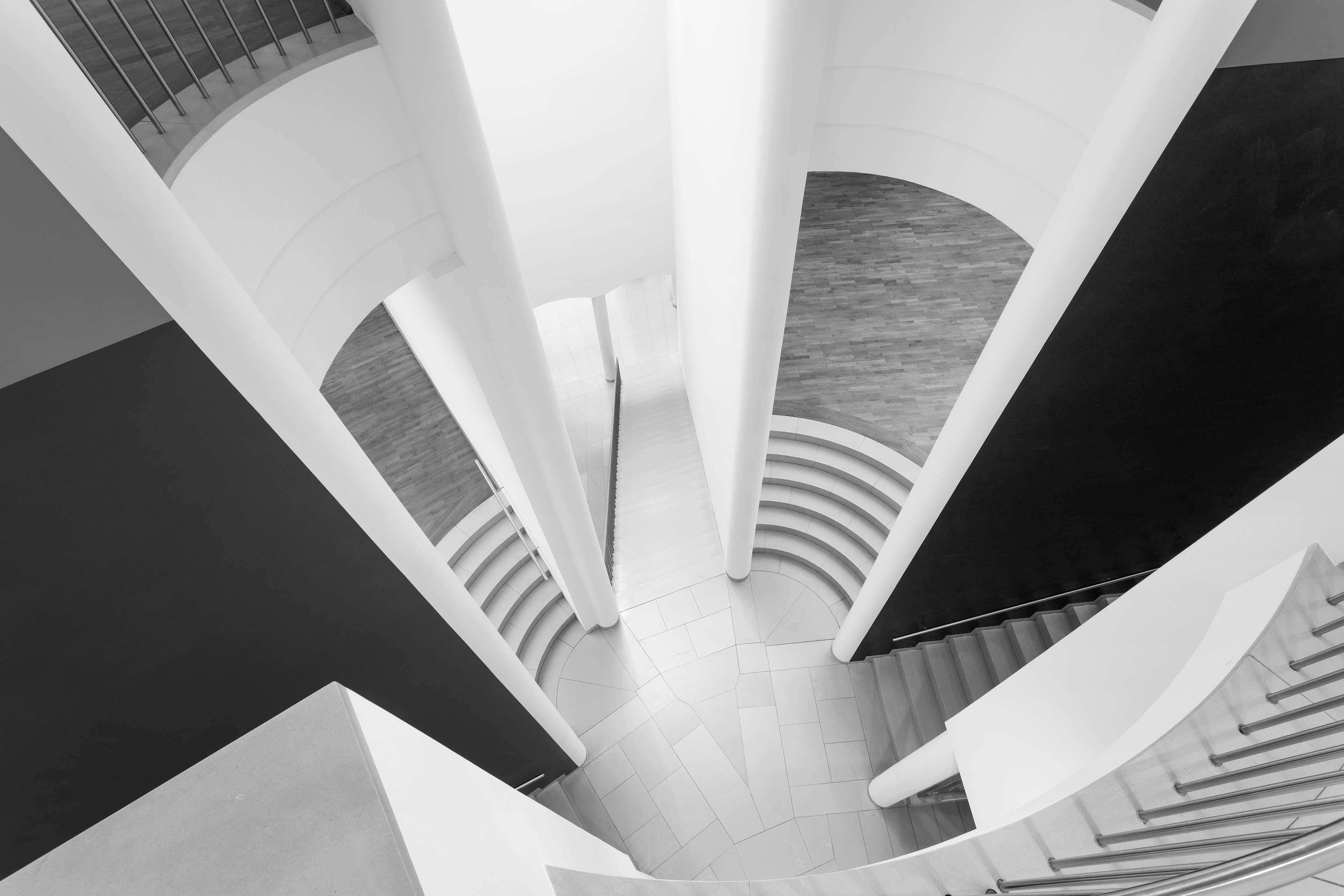 Treppenhaus des Museum MMK für Moderne Kunst