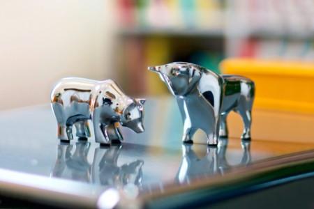 Börse Stier und Bulle