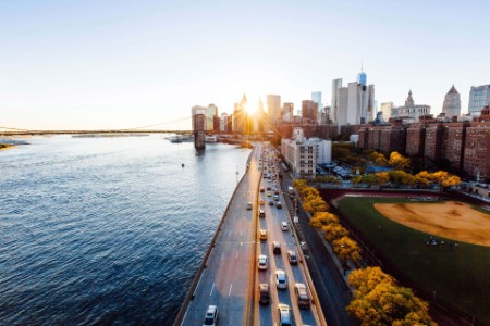 Stadtbild aus der Vogelperspektive Immobilienwirtschaft