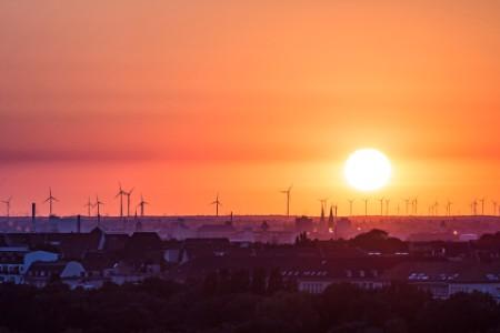Wind turbines near Berlin