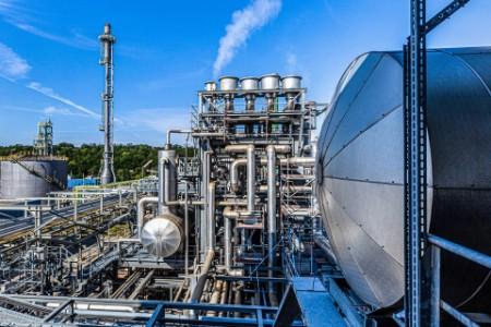 Wasserstoff-Produktionsanlage der Linde AG, Leuna, Deutschland, Europa