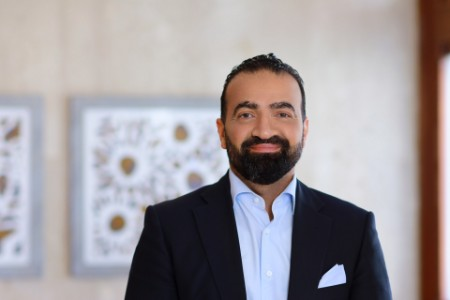 Photographic portrait of Yousef Wahbah