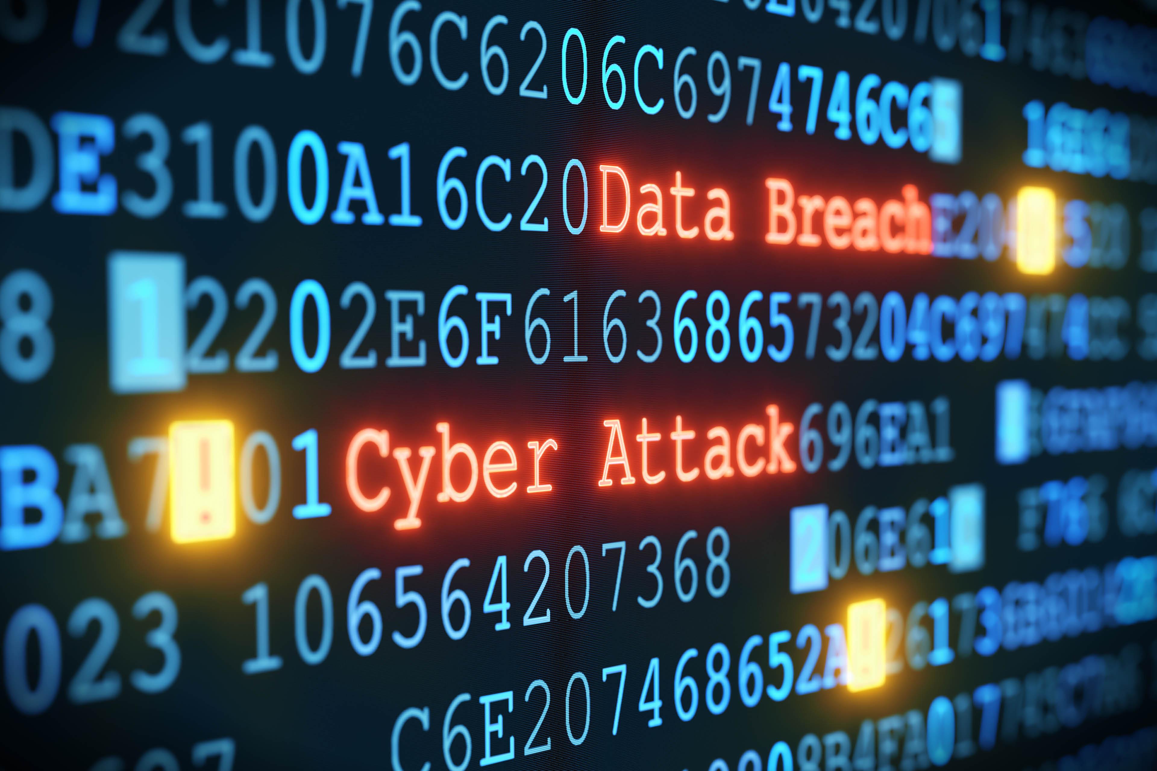 Cyber attack Data breach