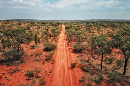 Northern territory red earth bush road