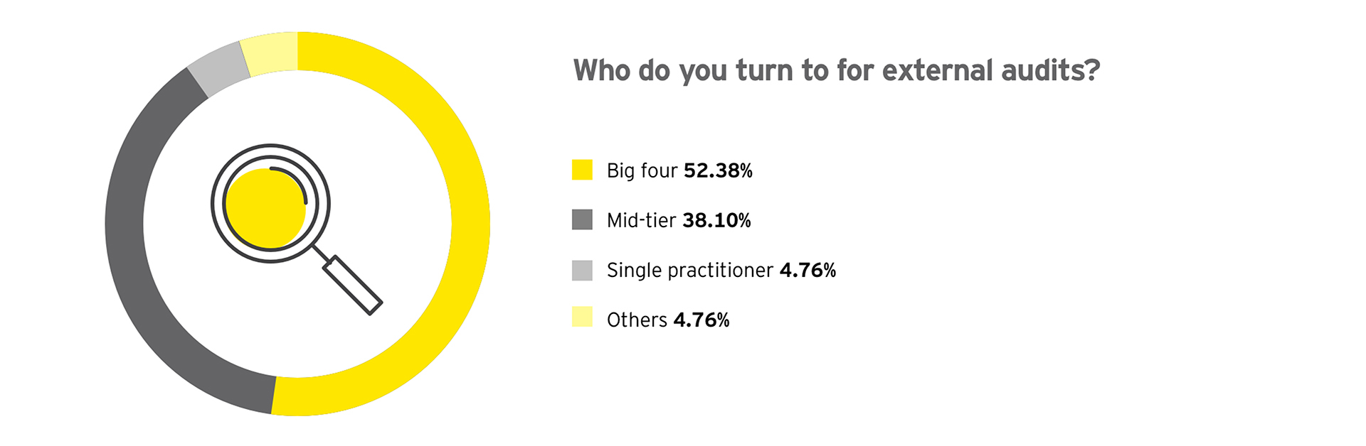 Graph: Who do you turn to for external audits?