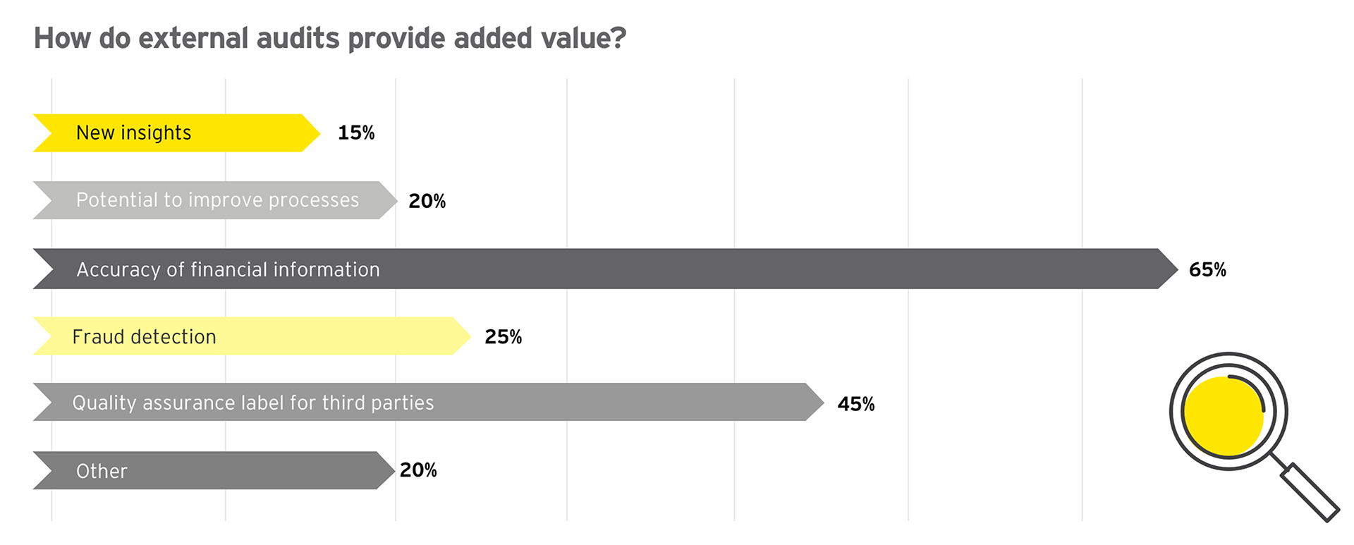 Graph: How do external audits provide added value?