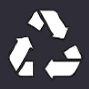 Icon: Transition to a circular economy, waste prevention and recycling