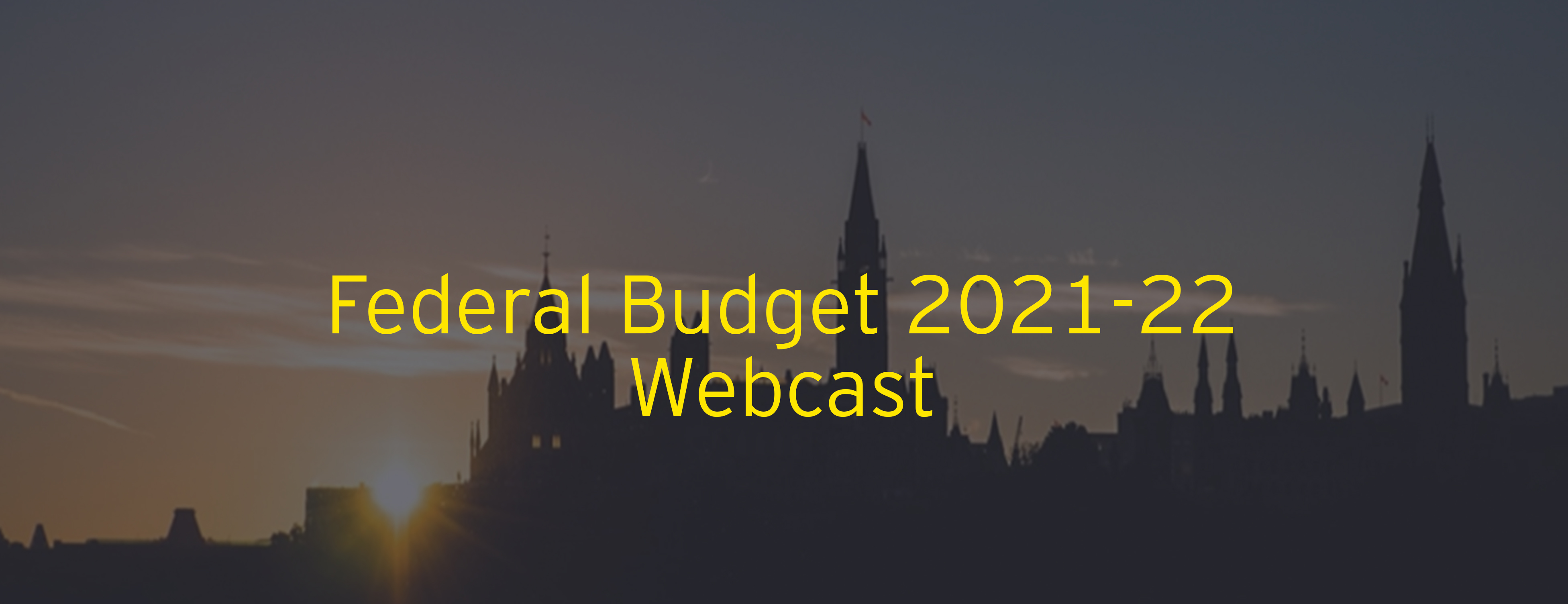 Federal Budget 2021-22 Webcast