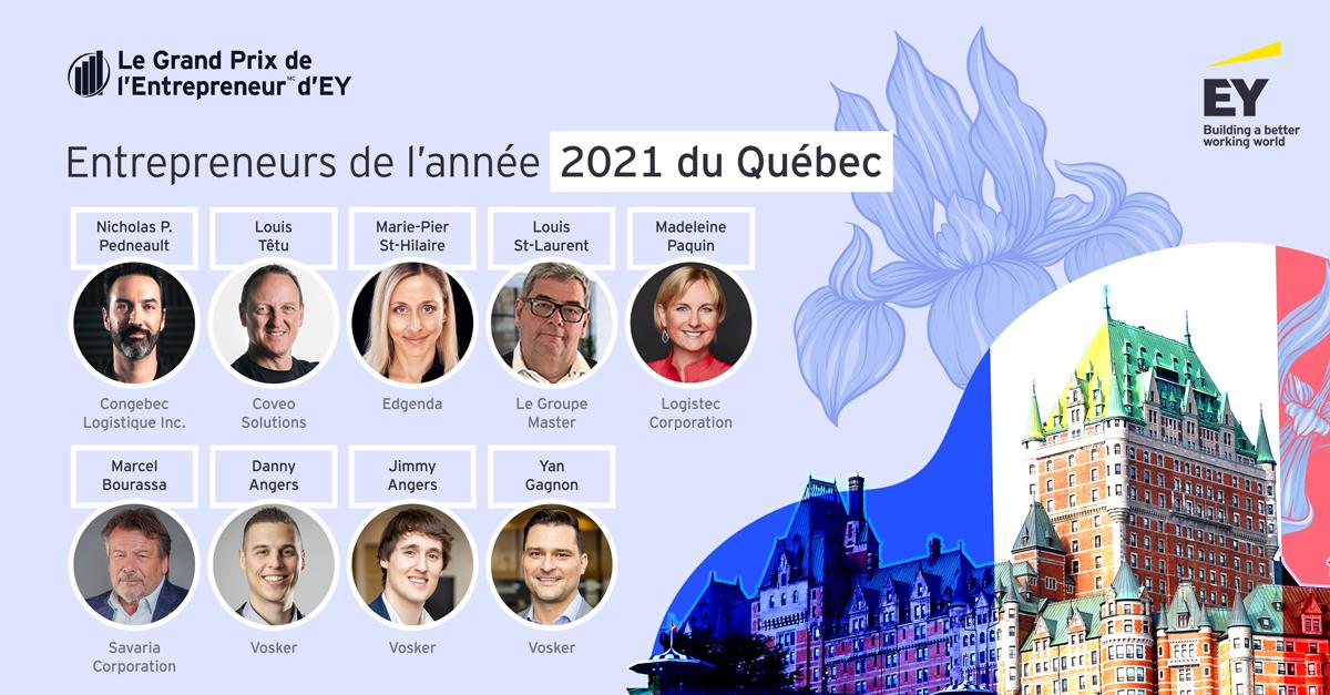 Entrepreneurs de l'année 2021 du Québec