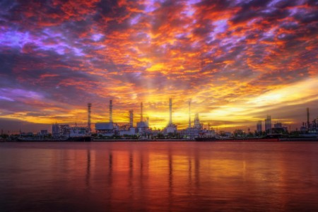 Sunrise Oil refinery industry reflection