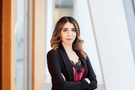 Photographic portrait of Dina Elshurafa