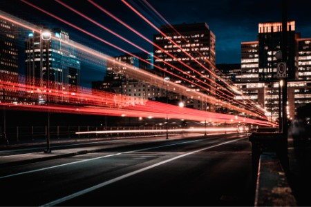 Ottawa city lights at night