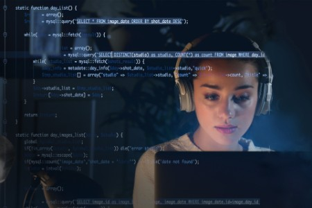 woman programming coding