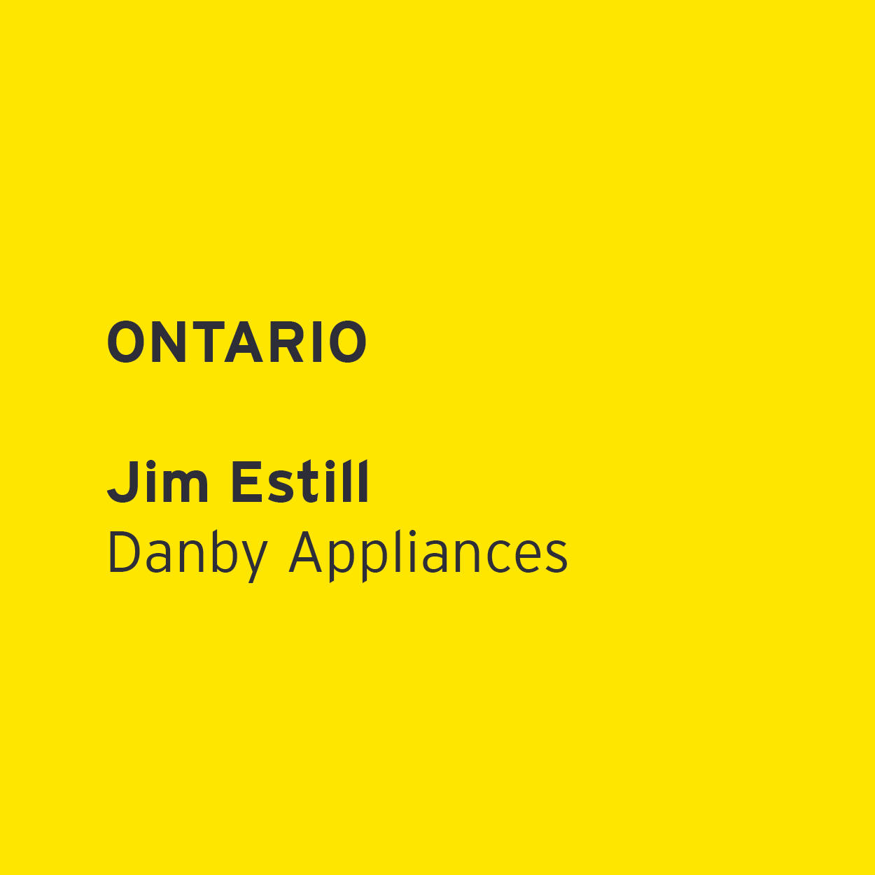 Jim Estill - Danby Appliances