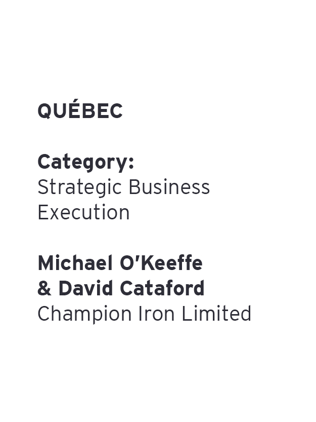 Michael O'Keeffe & David Cataford - Champion Iron Limited
