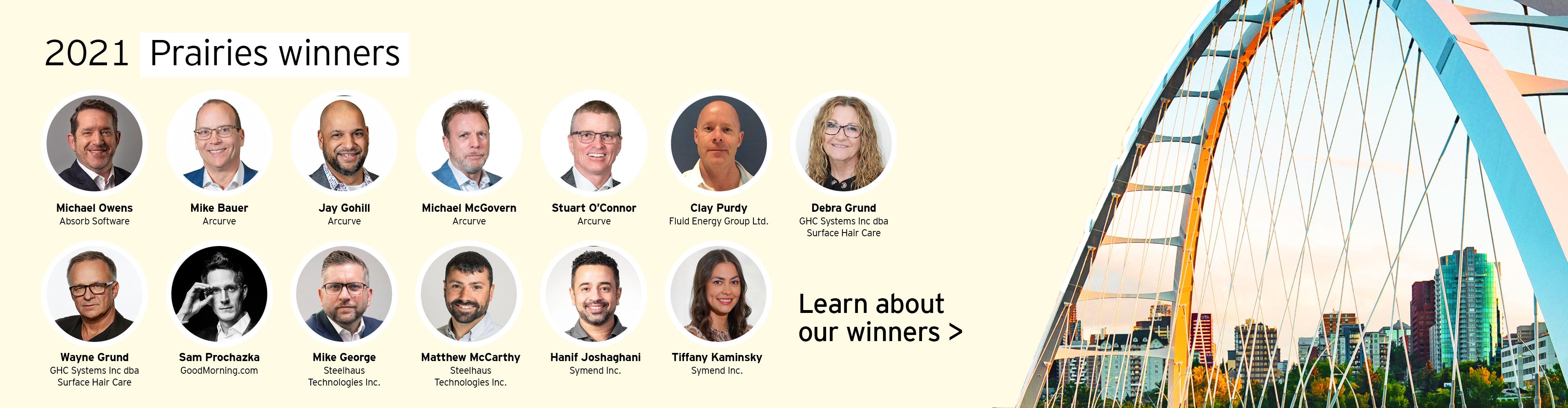 Meet our 2021 Prairies winners