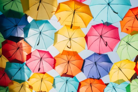 EY - Colourful umbrellas