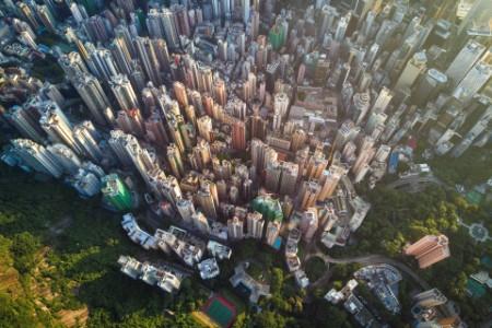 EY - Aerial scene of Hong Kong