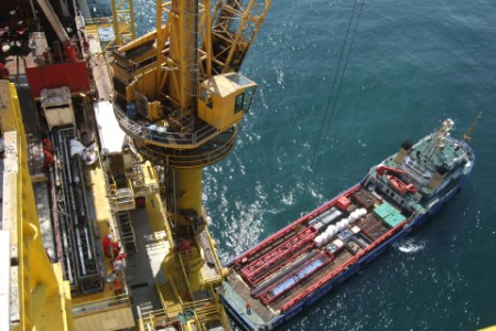 EY - Aerial view of offshore oil platform