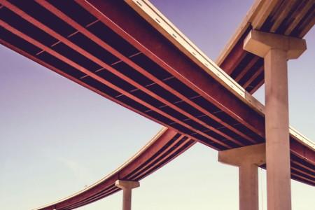 EY - Modern bridges against clear sky