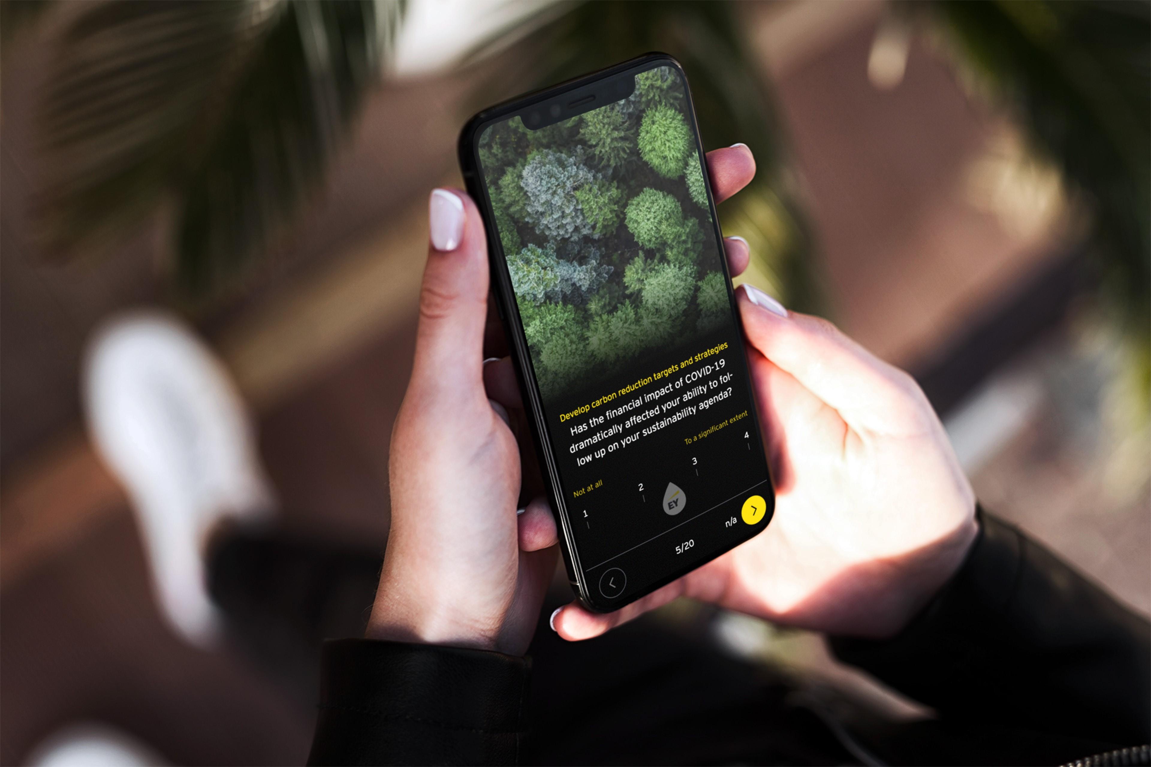 Women using mobile