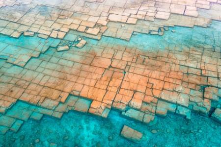 Geometric rock formations coast canada