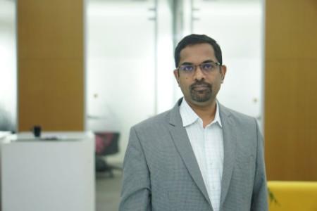 Photographic portrait of Koshy Mathew