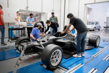 Students work on an autonomous vehicle at Clemson University
