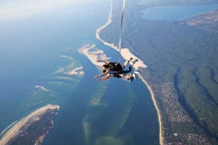 Skydiving tandem beach spain
