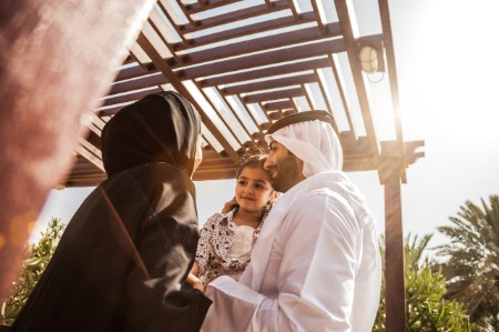 Emirati family enjoying weekend
