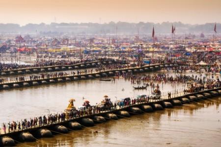Kumbh Mela festival in Allahabad Uttar Pradesh, India