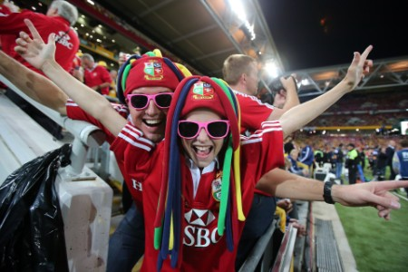 Lions fans at stadium brisbane