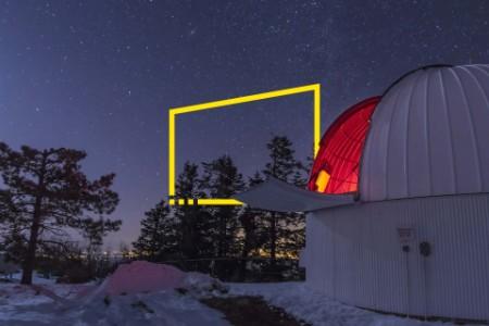 Moonlight illuminates Schulman telescope Mount Lemmon