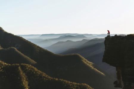 Person Top Mountain