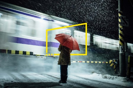 snow train level crossing static
