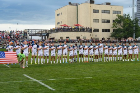 USA rugby mens national team ahead of game with canada