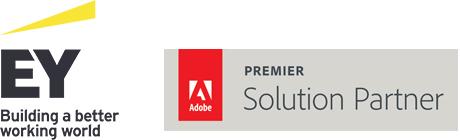 EY and Adobe Solution Partner logo