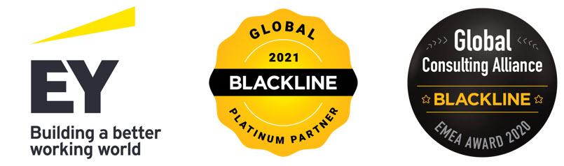 EY and Blackline logo