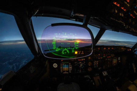 modern jet cockpit flight instruments