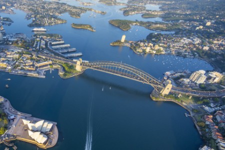 Sydney Harbour from way above
