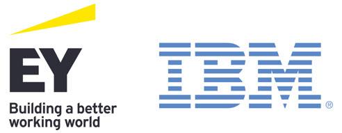EY and IBM logo