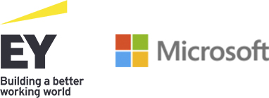 EY and Microsoft logo
