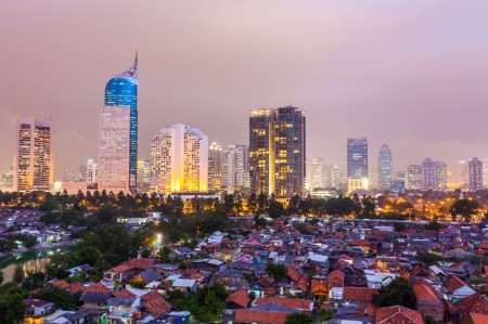 jakarta night indonesia